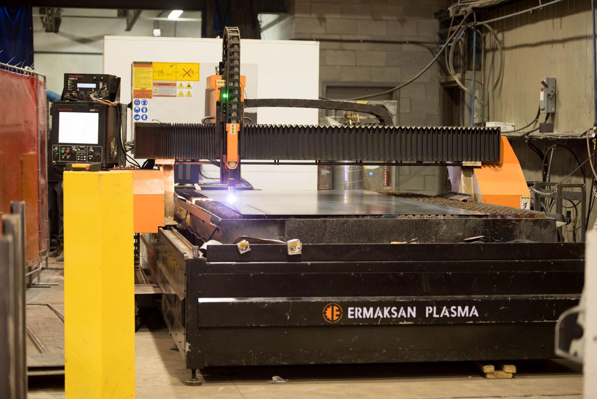 Découpe plasma   Service de préparation de pièces   ABM enviro.