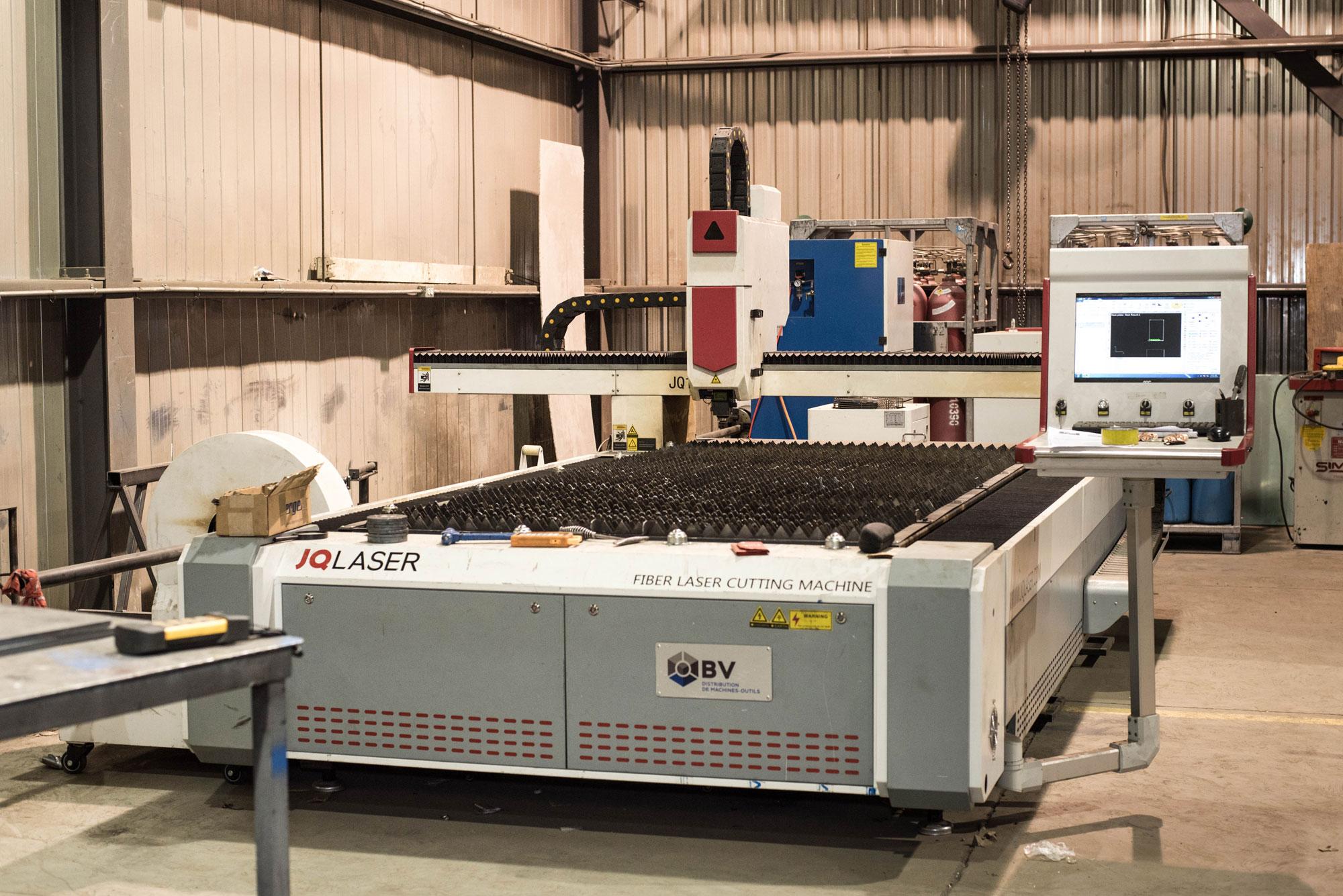 Découpe laser | Service de préparation de pièces | ABM enviro.
