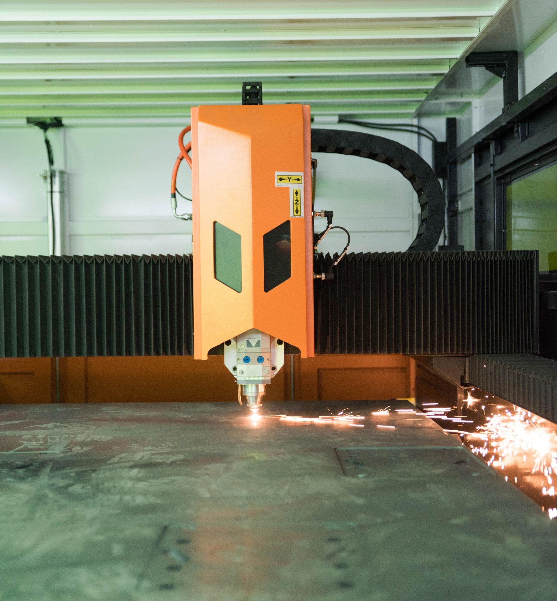 Découpe laser Fibermak Raptor 510 | Service de préparation de pièces | ABM enviro.