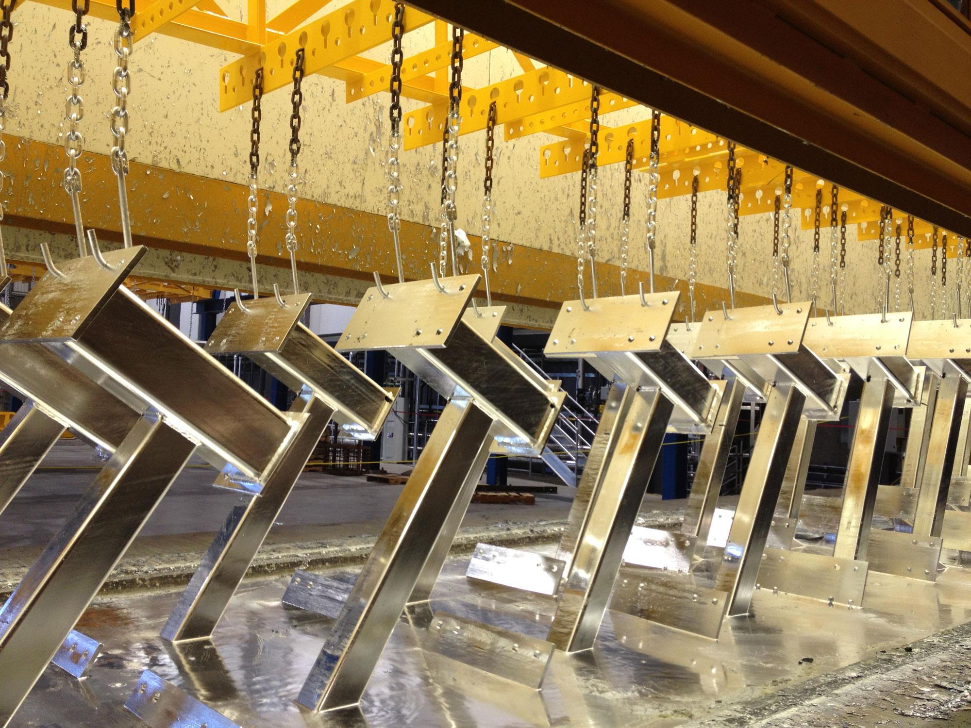 Pièces d'acier galvanisées | Service de galvanisation | ABM enviro.