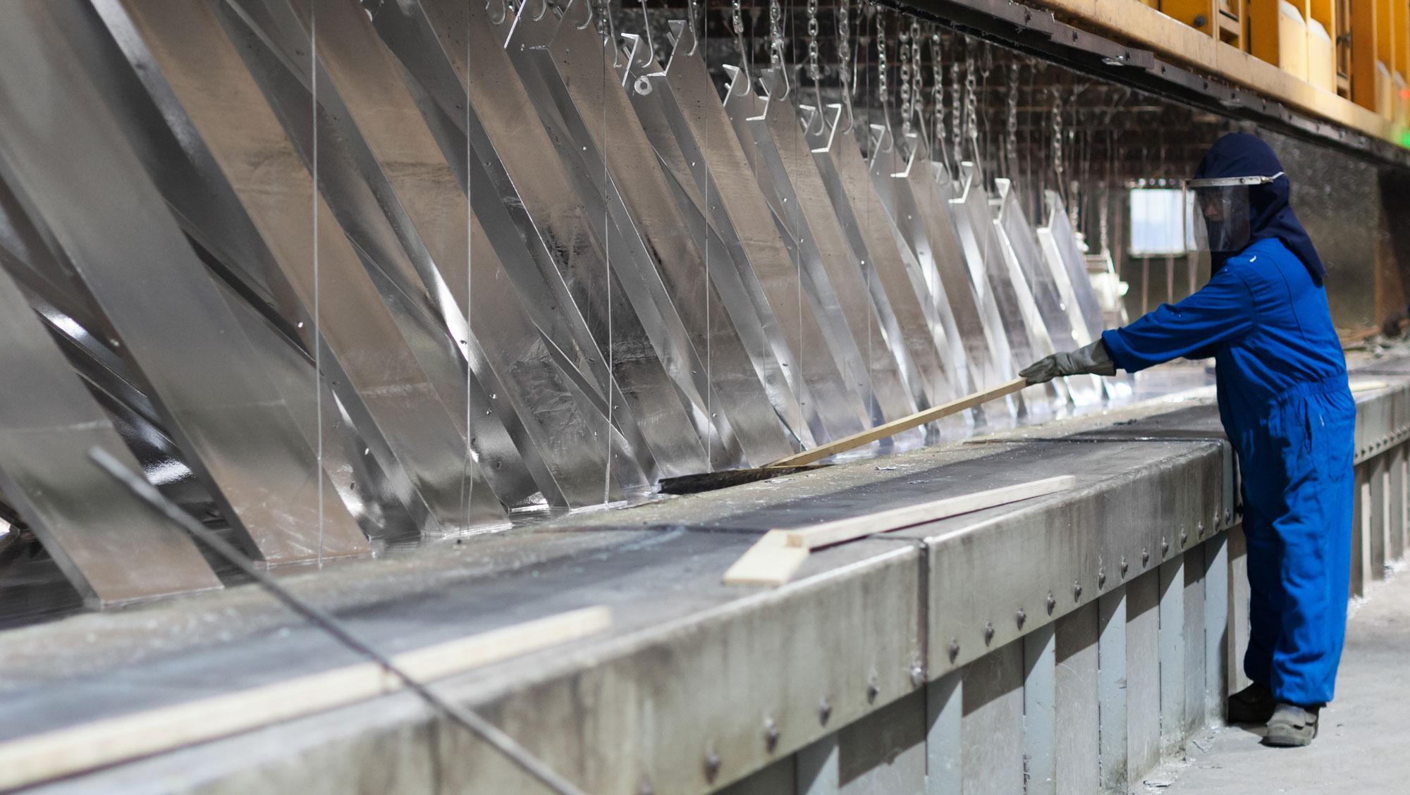 Pièces d'acier en traitement | Service de galvanisation | ABM enviro.